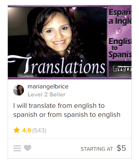English to Spanish Translation gig